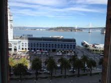 San Francisco Ferry Building and Treasure Island - Salesforce HQ: 1 Market Street